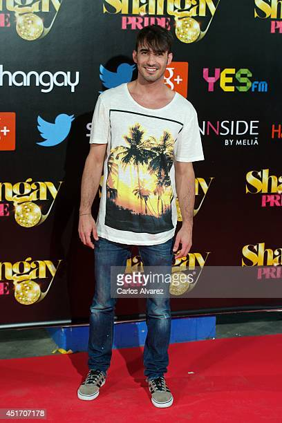 Spanish actor Israel Rodriguez attends the Shangay Pride concert at the Vicente Calderon stadium on July 4 2014 in Madrid Spain