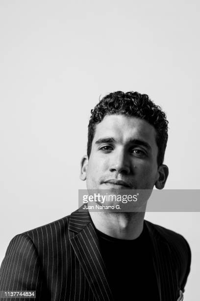 Spanish actor Jaime Lorente poses for a portrait session at Teatro Cervantes during 22nd Spanish Film Festival of Malaga on March 22 2019 in Malaga...