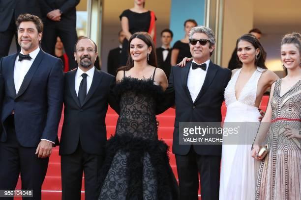 Spanish actor Javier Bardem Iranian director Asghar Farhadi Spanish actress Penelope Cruz Argentinian actor Ricardo Darin Spanish actress Sara Salamo...