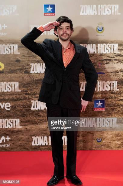 Spanish actor Javier Bodalo attends 'Zona Hostil' premiere at the Kinepolis cinema on March 9 2017 in Madrid Spain
