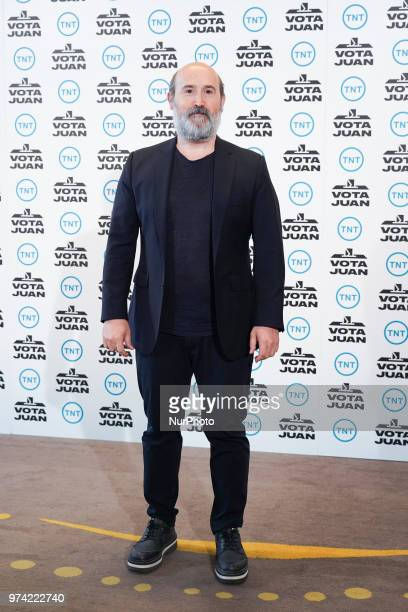 Spanish actor Javier Camara attend the 'Vota Juan' photocall at Palace Hotel on June 14 2018 in Madrid Spain