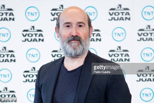 Spanish actor Javier Camara attends the 'Vota Juan' photocall at Palace Hotel on June 14 2018 in Madrid Spain