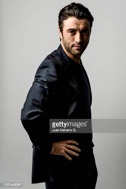 Spanish actor Javier Rey poses for a portrait session at Teatro Cervantes during 22nd Spanish Film Festival of Malaga on March 21 2019 in Malaga Spain