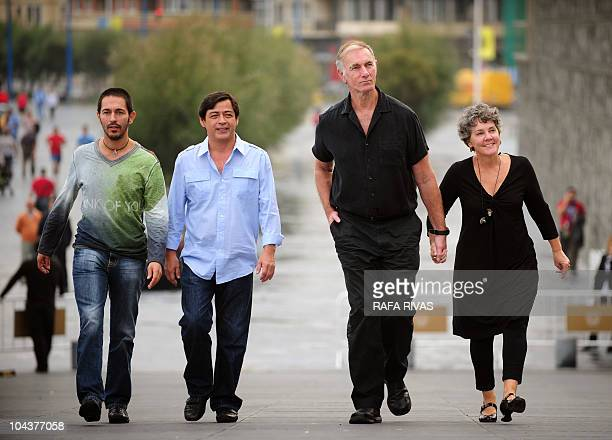 Spanish actor Jemi Paretas, actor and producer Joel Torre from The Philippines, producer Maggie Renzi and US director John Sayles, arrive for a...
