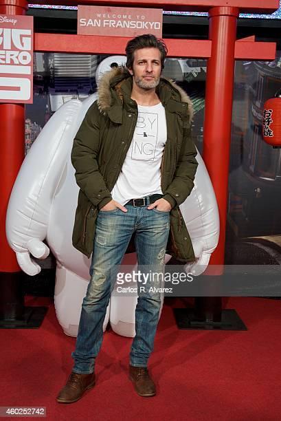 Spanish actor Jesus Olmedo attends Big Hero 6 premiere at the Capitol cinema on December 10 2014 in Madrid Spain