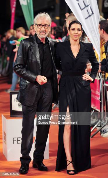 Spanish actor Jose Sacristan and actress Alicia Borrachero attend 'Tiempo de Guerra' premier at the Principal Teather during the FesTVal 2017 on...