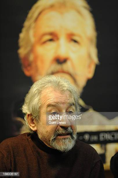 Spanish actor Jose Sacristan attends the press conference for 'Yo soy Don Quijote de la Mancha' play at Espanol Theatre on November 8 2012 in Madrid...