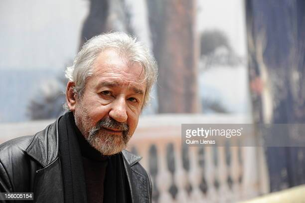 Spanish actor Jose Sacristan poses for a photo shoot before the press conference for 'Yo soy Don Quijote de la Mancha' play at Espanol Theatre on...