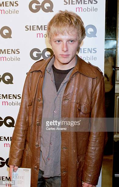 Spanish actor Juan Diaz attends the Spring/Summer 2001 GQ fashion show party May 7 2001 in Madrid Spain