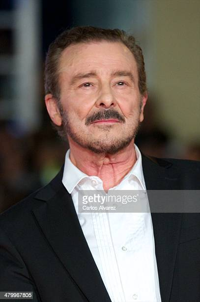 Spanish actor Juan Diego attends the 17th Malaga Film Festival 2014 opening ceremony at the Cervantes Theater on March 21 2014 in Malaga Spain