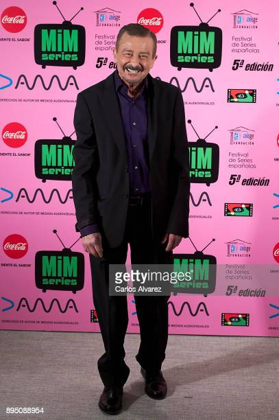 Spanish actor Juan Diego attends the MIM Series Awards 2017 at the ME Hotel on December 18 2017 in Madrid Spain