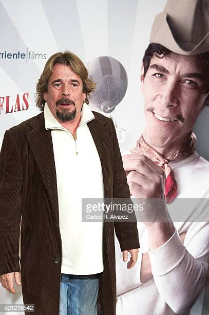 Spanish actor Juan Munoz attends 'Cantinflas' premiere at the Verdi cinema on April 14 2016 in Madrid Spain