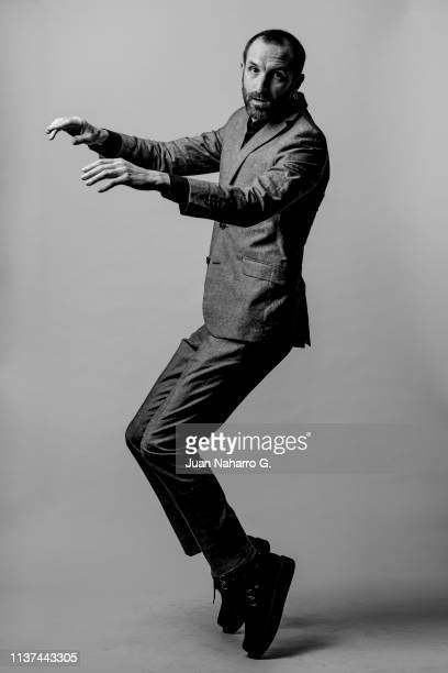 Spanish actor Julian Villagran poses for a portrait session at Teatro Cervantes during 22nd Spanish Film Festival of Malaga on March 21 2019 in...