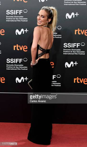 Spanish actor Kira Miró attends the red carpet on the closure day of 67th San Sebastian International Film Festival on September 28, 2019 in San...