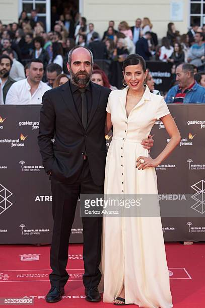 Spanish actor Luis Tosar and Maria Luisa Mayol attend the 19th Malaga Spanish Film Festival open ceremony at the Cervantes Theater on April 22 2016...