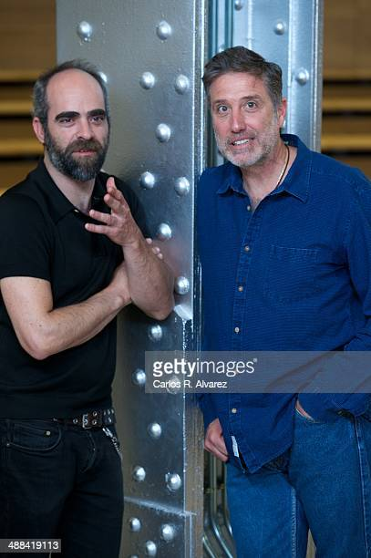 Spanish actor Luis Tosar and Spanish director Emilio Aragon attend the 'A Night in Old Mexico' photocall at the Telefonica Foundation on May 6 2014...