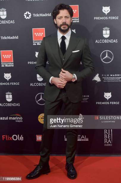 Spanish actor Álvaro Morte attends Feroz awards 2020 red carpet at Teatro Auditorio Ciudad de Alcobendas on January 16 2020 in Madrid Spain