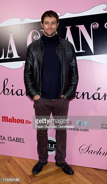 Spanish actor Manu Fullola attends 'La Gran Depresion' premiere at Infanta Isabel Theatre on May 19, 2011 in Madrid, Spain.