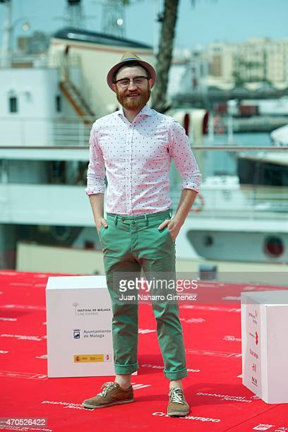 Spanish actor Manuel Burque attends the 'Requisitos Para Ser Una Persona Normal' photocall during the 18th Malaga Spanish Film Festival at Port on...