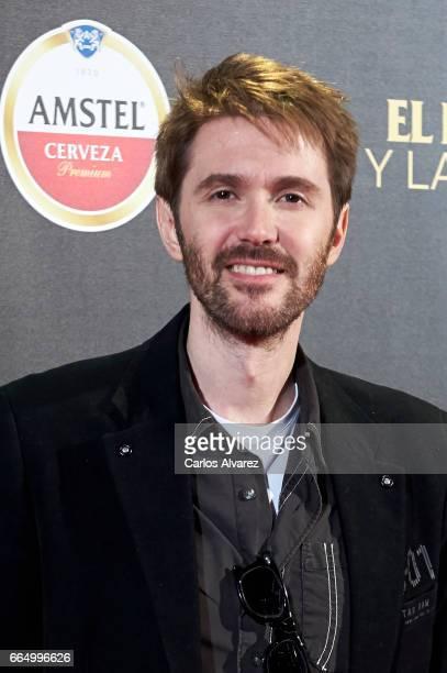 Spanish actor Manuel Velasco attends 'El Pelotari Y La Fallera' premiere at the Callao cinema on April 5 2017 in Madrid Spain