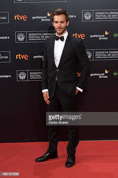 Spanish actor Marc Clotet attends the closing ceremony red carpet of the 63rd San Sebastian International Film Festival at the Kursaal Palace on...
