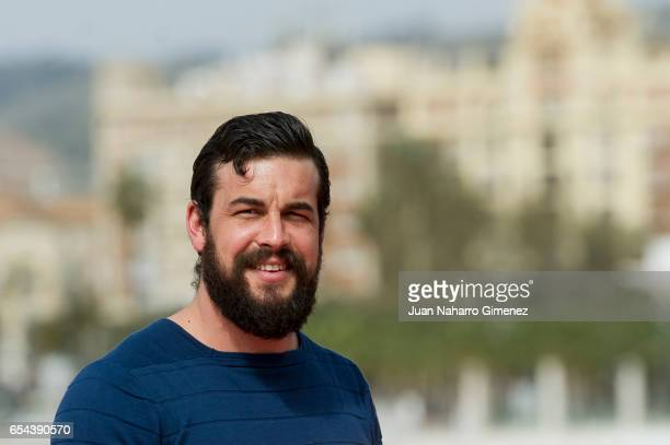 Spanish actor Mario Casas attends 'El Bar' photocall at Muelle Uno on March 17 2017 in Malaga Spain