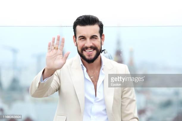 Spanish actor Mario Casas attends the 'Instinct' TV serial photocall on the roof of The RitzCarlton on September 5 2019 in Moscow Russia