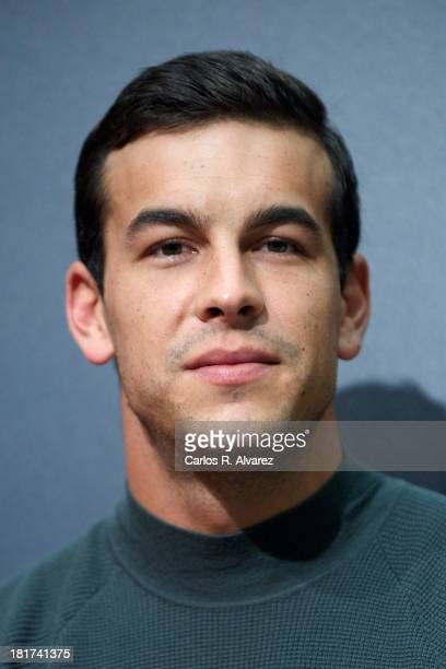 Spanish actor Mario Casas attends the Las Palmeras Crecen En La Nieve press conference during the 61st San Sebastian Film Festival at the Kursaal...