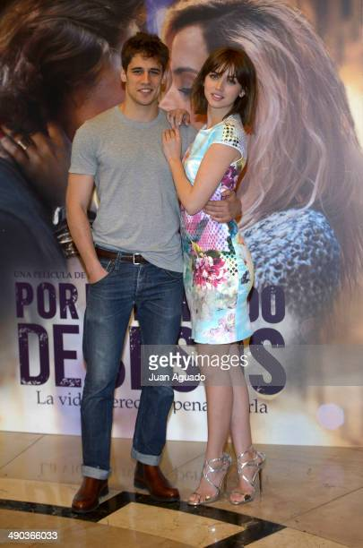 Spanish Actor Martino Rivas and Cuban Actress Ana de Armas during the 'Por un Punado de Besos' Madrid Photocall on May 14 2014 in Madrid Spain