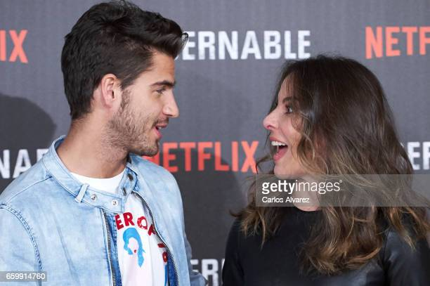 Spanish actor Maxi Iglesias and Mexican actress Kate del Castillo attend 'Ingobernable' photocall at the Ritz Hotel on March 29 2017 in Madrid Spain