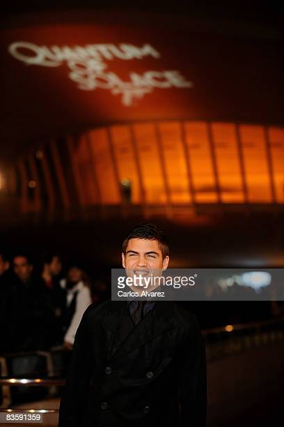 Spanish actor Maxi Iglesias attends the Quantum of Solace premiere at the Palau de las Arts on November 06 2008 in Valencia Spain
