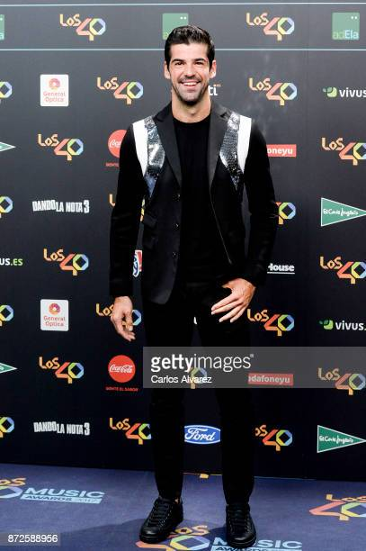 Spanish actor Miguel Angel Munoz attends 'Los 40 Music Awards' photocall at WiZink Center on November 10 2017 in Madrid Spain