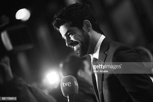 Spanish actor Miguel Angel Munoz attends the Jose Maria Forque Awards 2016 at Teatro de la Maestranza on January 14, 2017 in Seville, Spain.