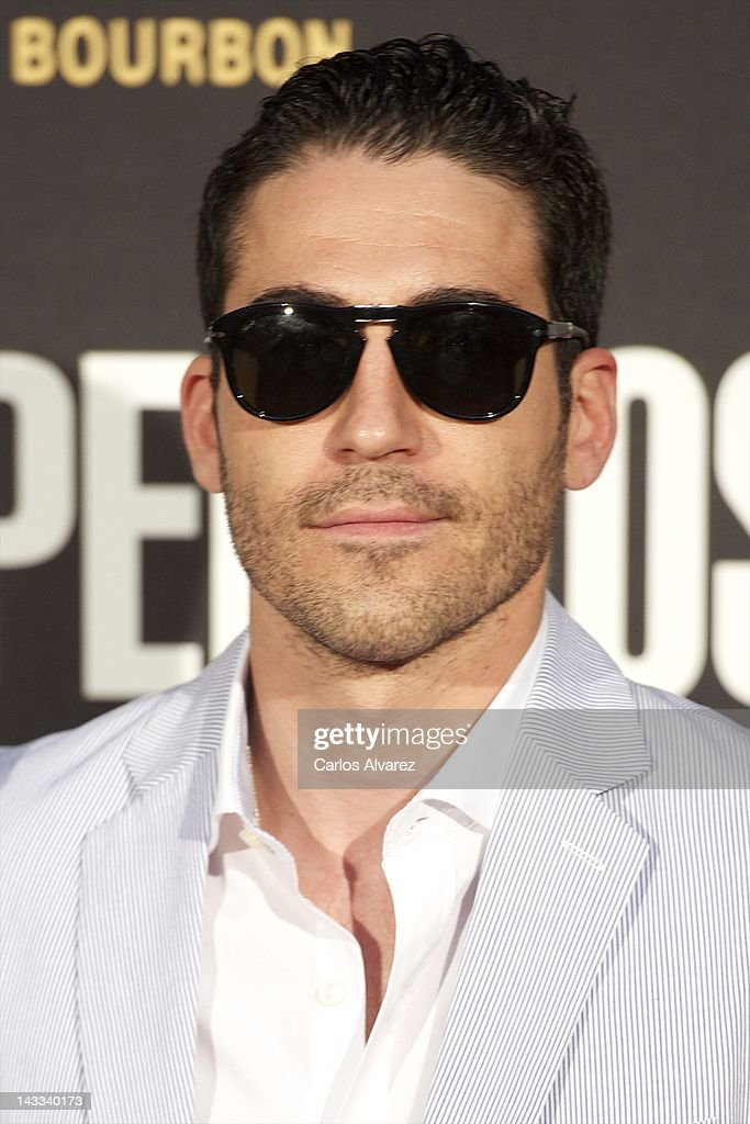 Spanish actor Miguel Angel Silvestre attends 'The Pelayos' premiere at Fortuny Club on April 24, 2012 in Madrid, Spain.
