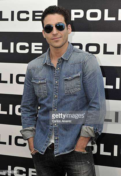 """Spanish actor Miguel Angel Silvestre presents new """"Police"""" Sunglasses Collection on November 25, 2010 in Madrid, Spain."""