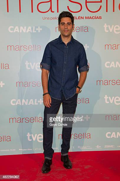 Spanish actor Miguel Diosdado attends 'Marsella' premiere at the Capitol cinema on July 17 2014 in Madrid Spain