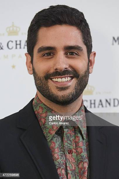 Spanish actor Miguel Diosdado attends 'Moet Tiny Tennis' event at the French Embassy on May 5 2015 in Madrid Spain