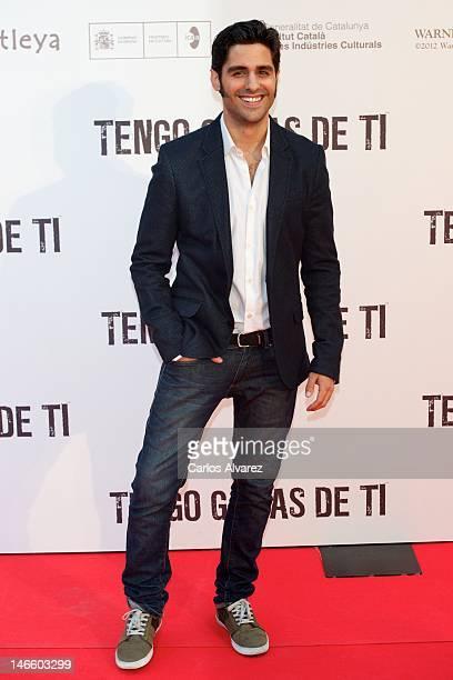 Spanish actor Miguel Diosdado attends 'Tengo Ganas de Ti' premiere at Callao cinema on June 20 2012 in Madrid Spain