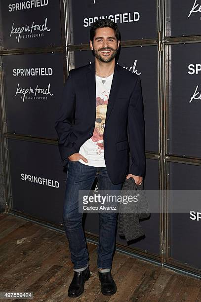 Spanish actor Miguel Diosdado attends the 'Keep in Touch' Fashion Film presentation at the Luchana Theater on November 17 2015 in Madrid Spain