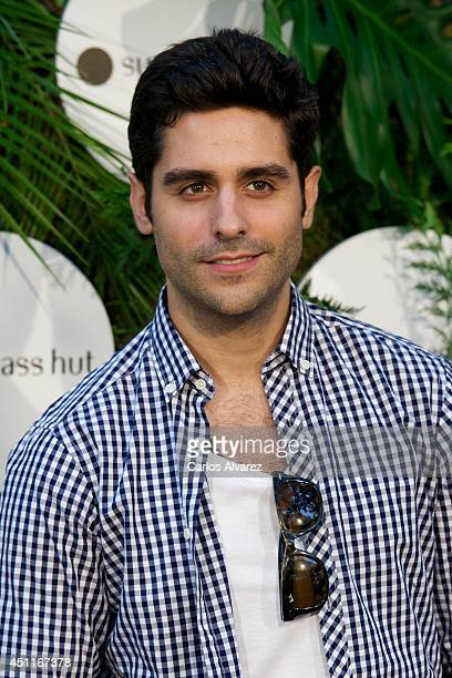 Spanish actor Miguel Diosdado attends the opening of 'House of Sun' PopUp Boutique on June 24 2014 in Madrid Spain