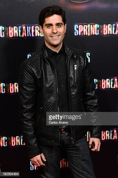 Spanish actor Miguel Diosdado attends the 'Spring Breakers' premiere at the Callao cinema on February 21 2013 in Madrid Spain