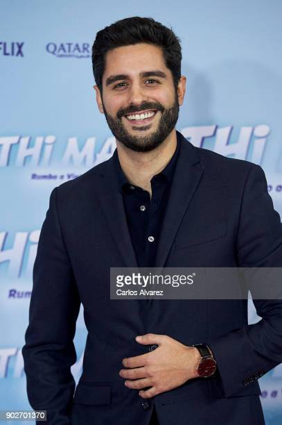 Spanish actor Miguel Diosdado attends 'Thi Mai Rumbo a Vietnam' premiere at the Callao cinema on January 8 2018 in Madrid Spain