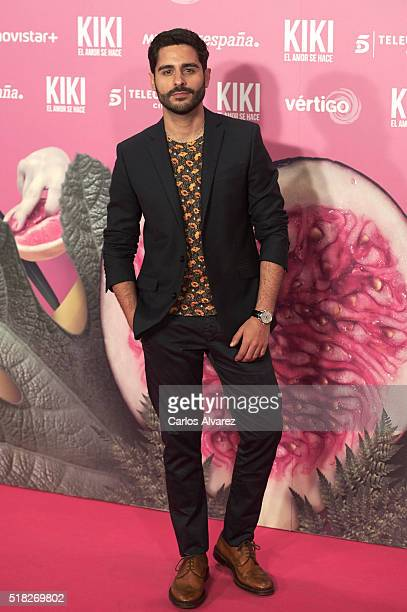 Spanish actor Miguel Disodado attends 'Kiki El Amor Se Hace' premiere at the Capitol premiere on March 30 2016 in Madrid Spain