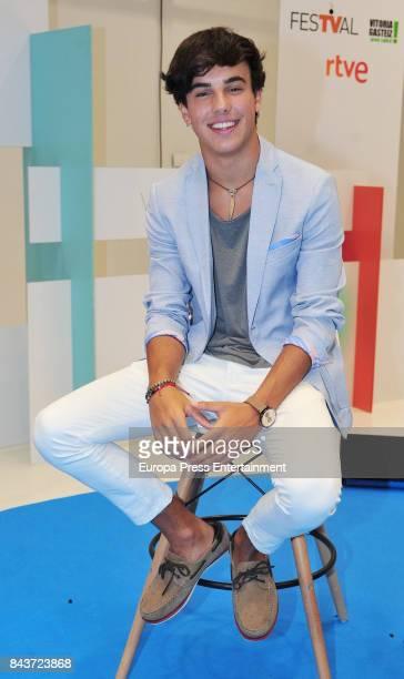 Spanish actor Oscar Casas attends 'Si Fueras Tu' photocall at the Palacio de Congresos during the FesTVal 2017 on September 6 2017 in VitoriaGasteiz...