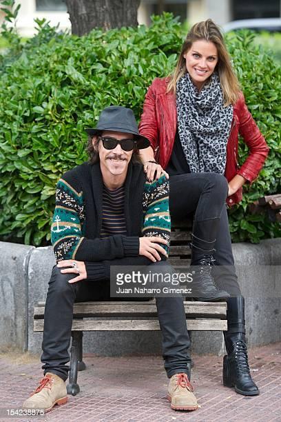 Spanish actor Oscar Jaenada and actress Amaia Salamanca attend Atraco photocal at Proyecciones Cinema on October 16 2012 in Madrid Spain