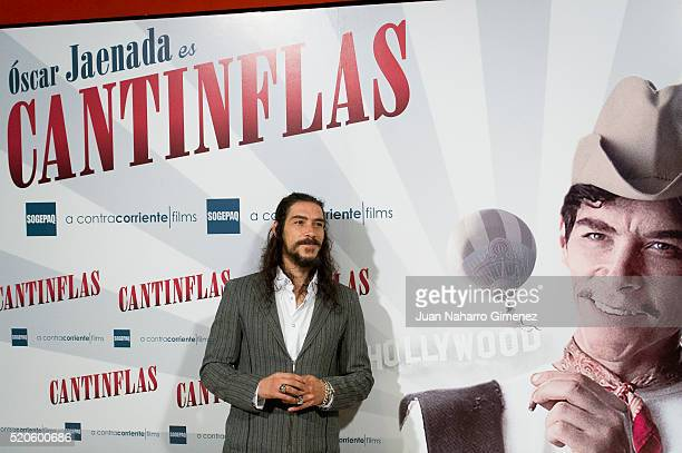 Spanish actor Oscar Jaenada attends 'Cantinflas' photocall at Cines Verdi on April 12, 2016 in Madrid, Spain.