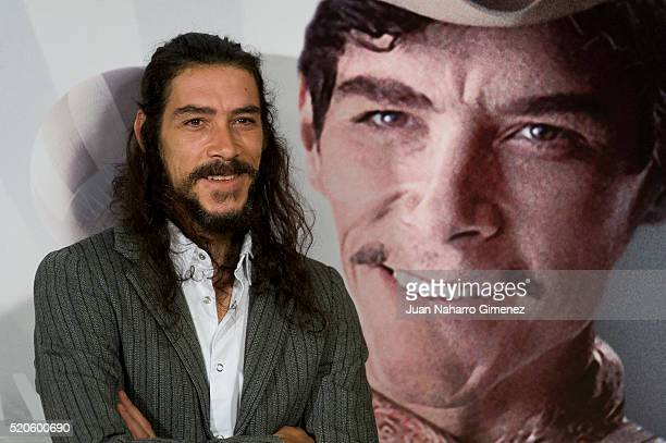 Spanish actor Oscar Jaenada attends 'Cantinflas' photocall at Cines Verdi on April 12 2016 in Madrid Spain