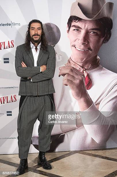 Spanish actor Oscar Jaenada attends Cantinflas photocall at the Verdi cinema on April 12 2016 in Madrid Spain