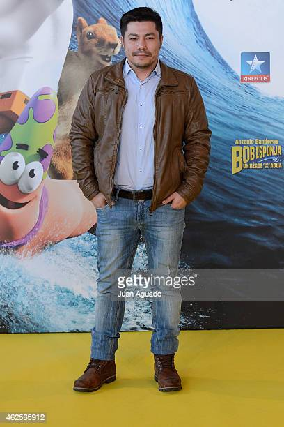 Spanish actor Oscar Reyes attends the 'Bob Esponja' Premiere at Kinepolis Cinema on January 31 2015 in Madrid Spain