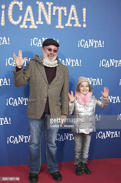 Spanish actor Pablo Carbonell attends 'Canta' premiere at Capitol cinema on December 18 2016 in Madrid Spain